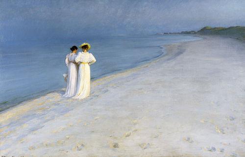 Chiều hè ở bờ biển nam Skagen, Peder Severin Krøyer (1893).