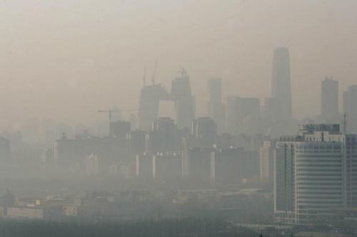 Ô nhiễm không khí ở Bắc Kinh. Ảh: DPA.