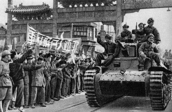 Đầu năm 1949, Quân đội Cách mạng Quốc gia cuối cùng đã tan rã, giữa tháng 1, quân đội của Mao tiến vào Bắc Kinh – chẳng bao lâu sau đó sẽ là thủ đô của Trung Quốc. Ảnh: GEO EPOCHE