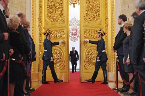 Vladimir Putin trong nghi lễ tại Điện Kreml