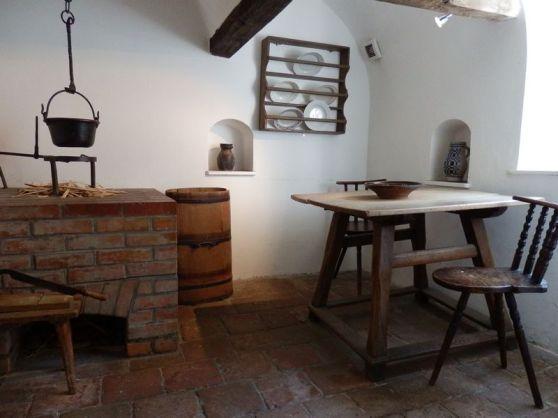 Một phòng bếp trong khu nhà xã hội cách đây 500 năm