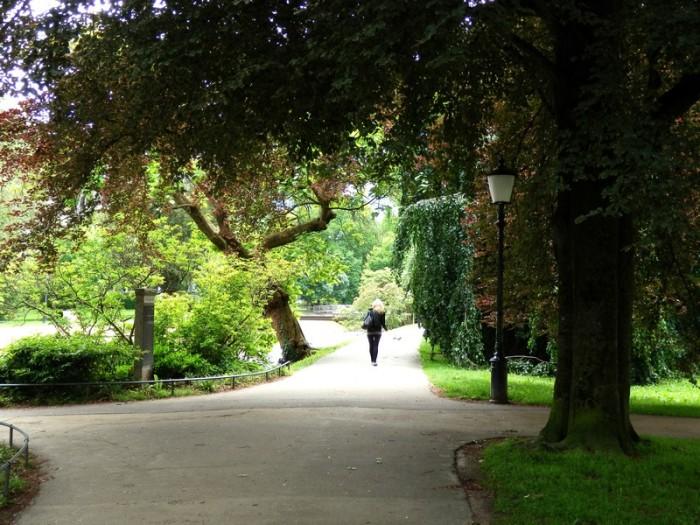 Công viên dọc theo đại lộ Lichtental dài 3 kilômét