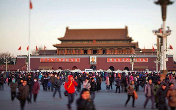 Đường vào Cấm Thành: tỉnh của Trung Quốc có nhiều dân như cả nhiều quốc gia trên các lục địa khác. Ảnh: Der Spiegel