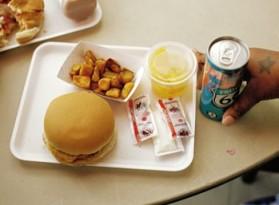 Bữa ăn trưa trong một trường học ở Maryland
