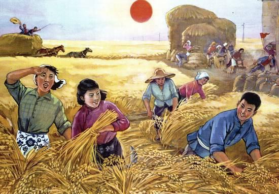Các công xã nông nghiệp của Trung Quốc phải đạt được những chỉ tiêu sản xuất ngày càng cao hơn. Vì sợ bị trừng phạt nên các trưởng nhóm thường báo cáo vượt chỉ tiêu, trong khi người dân thực ra là đói ăn. Ảnh: GEO Epoche.