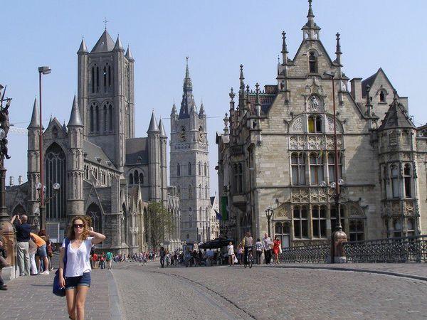 Khu phố cổ của Gent. Ảnh: Phan Ba