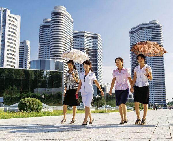 Nhà mới trong thủ đô Bình Nhưỡng. Ảnh: Der Spiegel