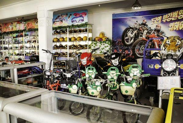 Cửa hàng ở Bình Nhưỡng. Ảnh: Der Spiegel