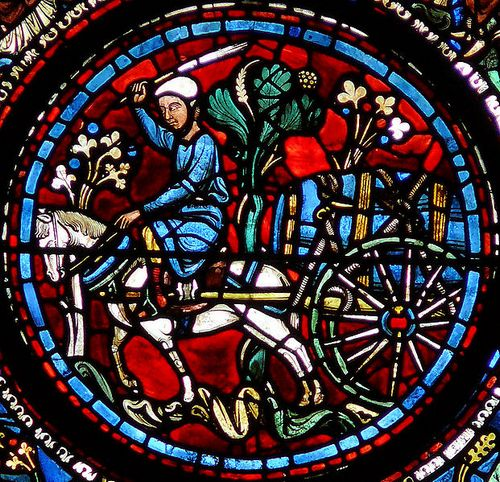 Cửa kính nổi tiếng của Thánh đường Chartres. Ảnh: Wikipedia