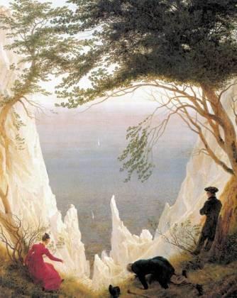 """Tác phẩm """"Núi đá vôi trên đảo Rügen"""", Caspar David Friedrich, khoảng 1818"""