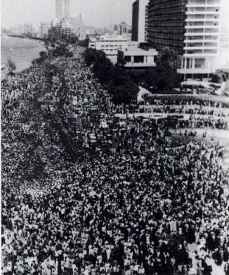 Người dân đưa tiễn Tổng thống Ai Cập Nasser