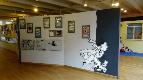 Tintin trong Trung tâm Comic Bỉ ở Bruxelles. Hình: Hồng Hạnh