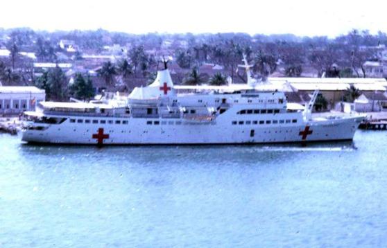 Tàu Helgoland ở Đà Nẵng, tháng 4 năm 1968