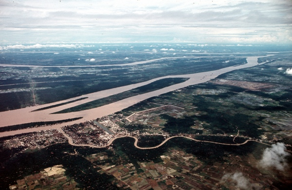 Khong anh My Tho 1967-68 - Mekong River