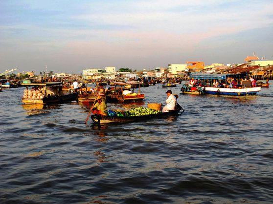 Chợ nổi Cái Răng. Hình: Wikipedia