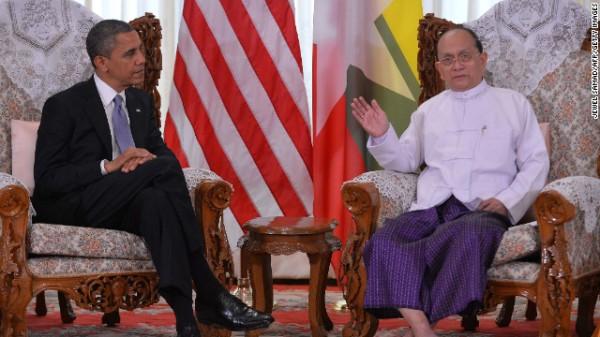 Tổng thống Obama thăm Tổng thống Myanmar Thein Sein
