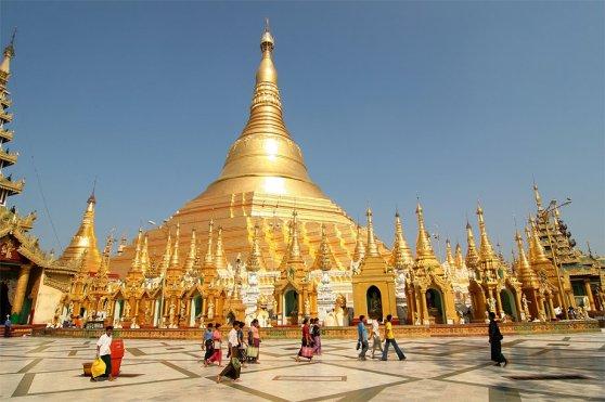 Chùa Shwedagon. Hình: GEO