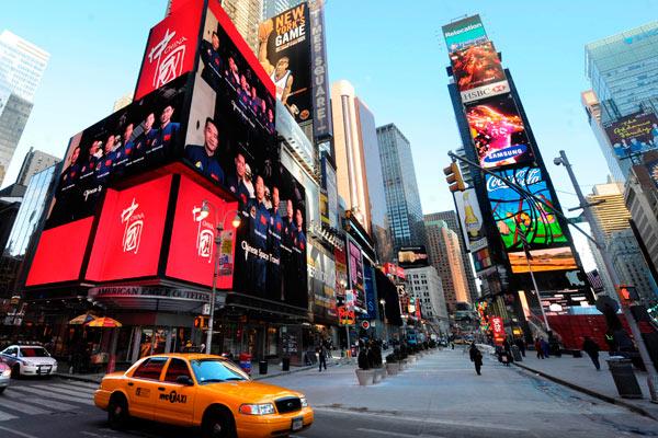 Trung Quốc bắt đầu quảng bá hình ảnh của mình trên Time Square vào ngày 17 tháng 1