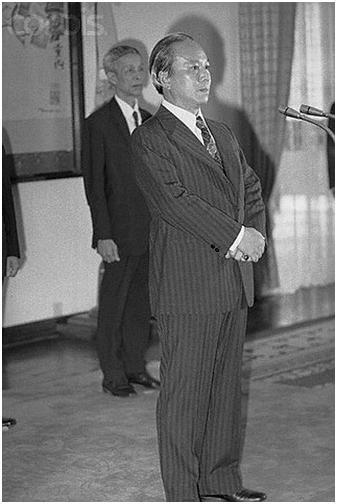 Tổng thống Nguyễn Văn Thiệu vào ngày 14 tháng Tư năm 1975 ở Sài Gòn