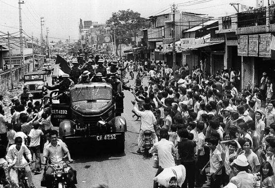 Sài Gòn ngày 30 tháng 4 năm 1975. Hình: AFP