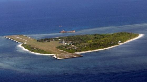Đảo Thị Tứ ở biển Đông. Hình: DPA