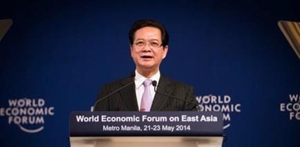 Thủ tướng Nguyễn Tấn Dũng tại Manila , 22/5/2014. Hình: Sikarin Thanachaiary