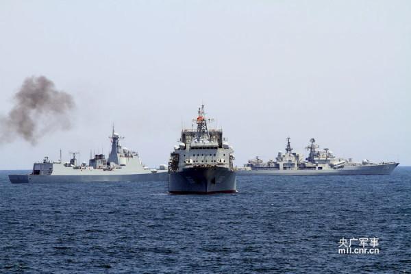 Nga-Trung Quốc tập trận chung trên biển