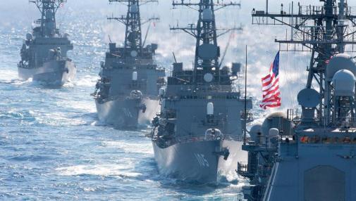 Tập trận ở biển Hoa Đông với sự tham gia của hải quân Hoa Kỳ.