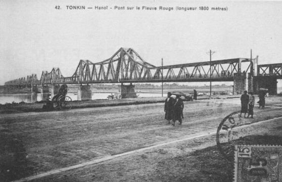 Cầu Long Biên đầu thế kỷ 20. Hình: Wikipedia