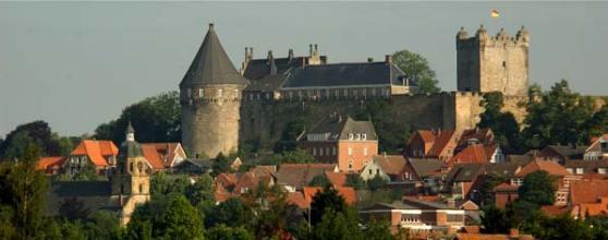 Thànnh Bentheim của Đức gần biên giới Hà Lan.