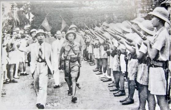 Việt Minh trong thời gian của Cách mạng tháng Tám. Hình: Wikipedia
