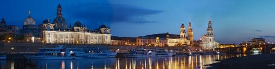 Dresden về đêm. Hình: Wikipedia
