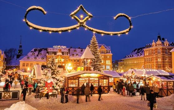Chợ Giáng Sinh trong vùng Erzgebirge ở miền nam nước Đức