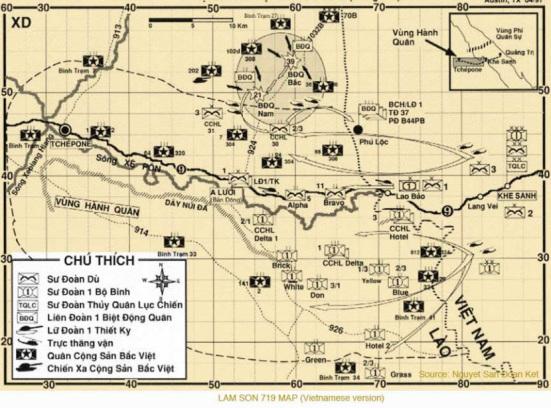 Bản đồ hành quân, Lam Sơn 719