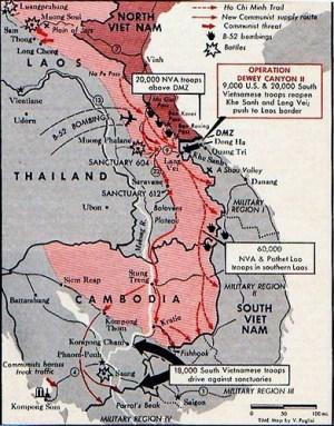 Bản đồ hành quân Lam Sơn 719