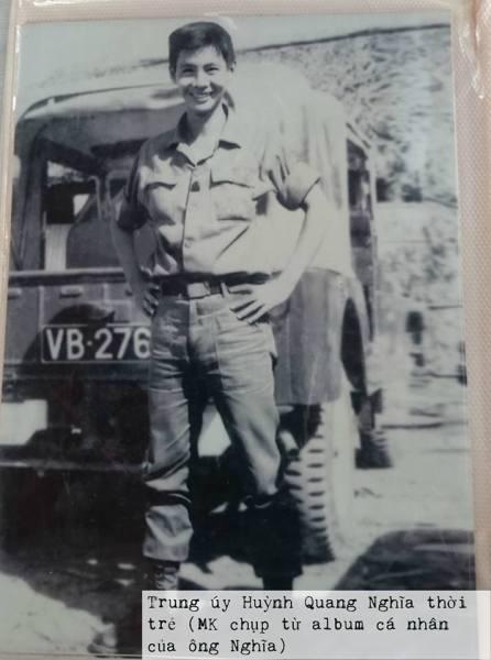 Trung úy Huỳnh Quang Nghĩa thời trẻ