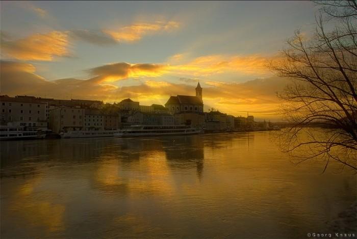 Thành phố Passau, nơi hợp lưu của ba con sông