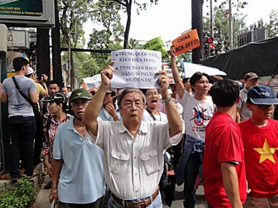 Nhà văn Phạm Đình Trọng xuống đường biểu tình chống Trung Quốc vào ngày 11/5/2014