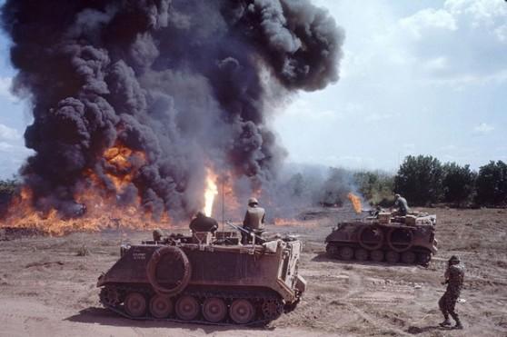 Đội kỵ binh 1 thuộc Trung đoàn Kỵ binh 4 ở Bến Súc trong Chiến dịch Cedar Falls 1967