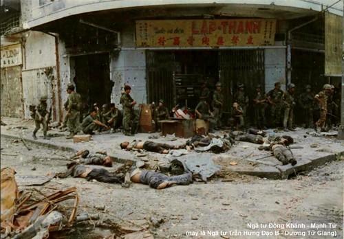 Giao tranh trong Chợ Lớn tháng 6 năm 1968 ở góc Đồng Khánh – Mạnh Tử