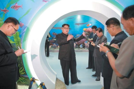 Lãnh đạo Triều Tiên Kim Jong-un thanh tra cung thiếu nhi Mangyongdae.