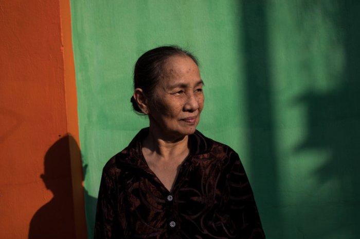 Nguyen Thi Do tại nhà bà ở Qui Nhơn