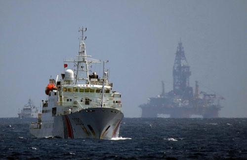 Giàn khoan Hải Dương-981 của Trung Quốc trong lần hạ đặt trái phép vào tháng 5.2014