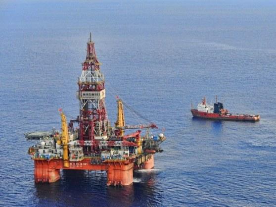 Giàn khoan HD 981 trên biển Đông.