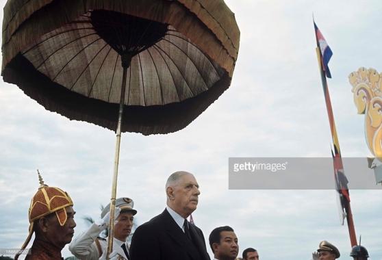 De Gaulle thăm chính thức Campuchia, ngày 1 tháng 9 năm 1966.