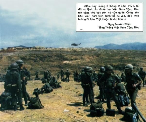 Lam Sơn 719: Quân lính VNCH chờ trực thăng chở ra mặt trận.