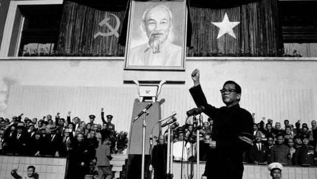 """Tổng Bí thư Lê Duẩn, người chỉ đạo chiến dịch """"chống phản cách mạng"""", tại một buổi mít tinh."""