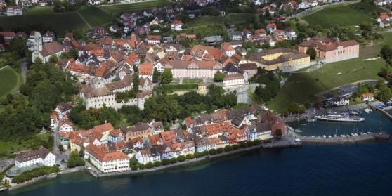 Cảng Meersburg nhìn từ trên cao