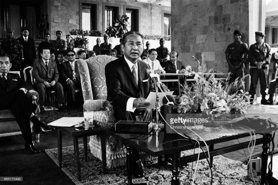 Tổng thống Lon Nol ở Phnom Penh kể từ cuộc đảo chánh trong tháng Ba 1970