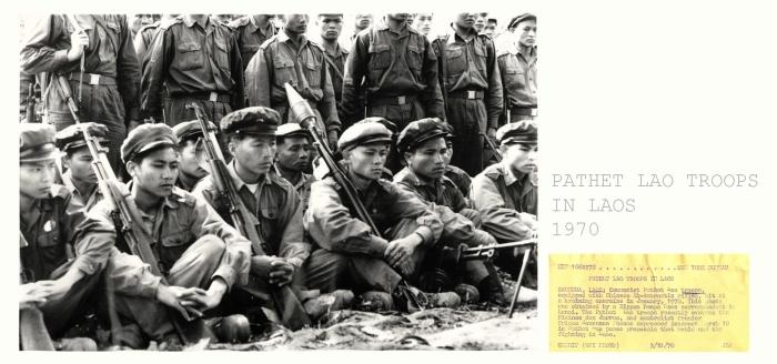 Quân đội Pathet Lao năm 1970 với AK của Trung Quốc